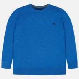Sweter bawełniany gładki dla chłopca Mayoral 354-43 Niebieski