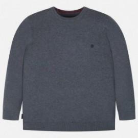 Sweter bawełniany gładki dla chłopca Mayoral 354-46 Szary
