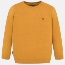 Sweter bawełniany gładki dla chłopca Mayoral 354-45 Karmel