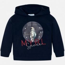 Bluza z kapturem chłopięca Mayoral 820-27 Granatowy