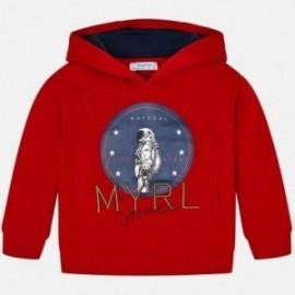 Bluza z kapturem chłopięca Mayoral 820-26 Czerwony