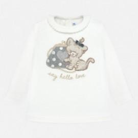 Koszulka z długim rękawem dla dziewczynki Mayoral 2008-28 Srebrny