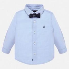 Koszula z muszką dla chłopca Mayoral 2111-36 Błękitny