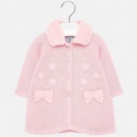 Płaszcz trykotowy dziewczęcy Mayoral 2427-45 Różowy