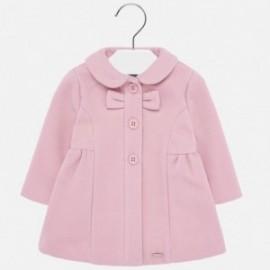 Płaszcz elegancki flauszowy dziewczęcy Mayoral 2428-90 Różowy