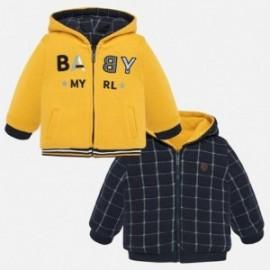 Bluza dwustronna z kapturem chłopięca Mayoral 2455-39 Żółty