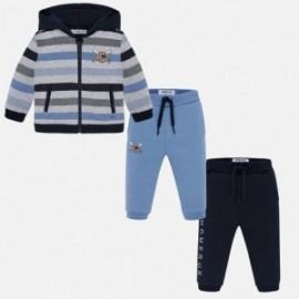 Dres bluza i dwie pary spodni dla chłopca Mayoral 2844-78 Niebieski