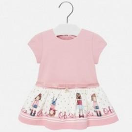 Dzianinowa sukienka dla dziewczynki Mayoral 2921-10 Różowy