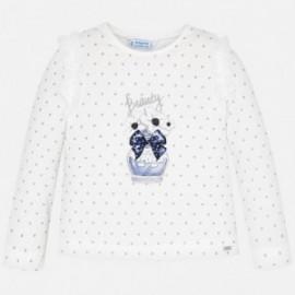 Koszulka z długim rękawem dziewczęca Mayoral 4007-73 Granatowy