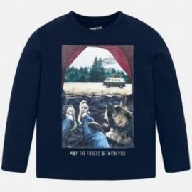 Koszulka z długim rękawem chłopięca Mayoral 4031-50 Granatowy