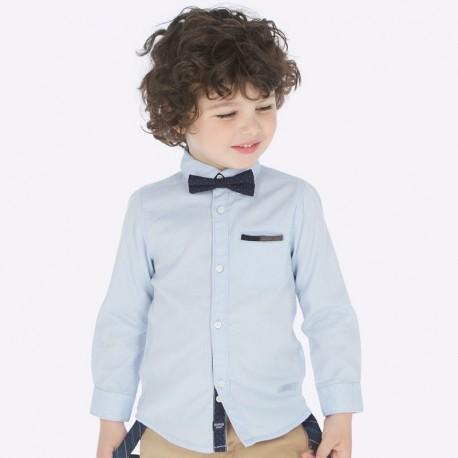Koszula z długim rękawem z muszką chłopięca Mayoral 4126-82 Błękitny