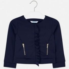 Bluza z falbanką dla dziewczynki Mayoral 4425-23 Granatowy