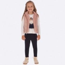Spodnie z dzianiny dziewczęce Mayoral 4501-35 Granatowy