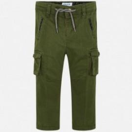 Spodnie klasyczne bojówki chłopięce Mayoral 4515-18 Zielony