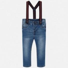 Spodnie jeans z szelkami chłopięce Mayoral 4517-23 Niebieski