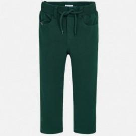 Spodnie dzianinowe dla chłopca Mayoral 4518-65 Zielony