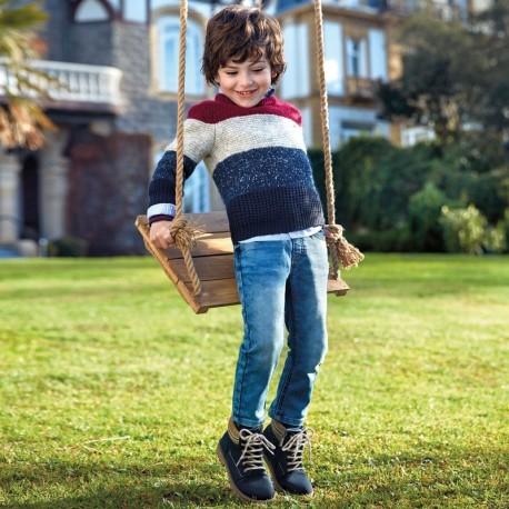 Spodnie jeans dla chłopca Mayoral 4519-22 niebieskie