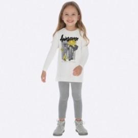 Komplet sportowy bluzka i leginsy dziewczęcy Mayoral 4716-30 Szary