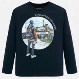 Koszulka z długim rękawem chłopięca Mayoral 7024-85 Granatowy