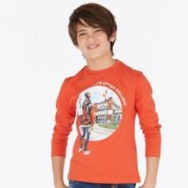 Koszulka z długim rękawem chłopięca Mayoral 7024-83 Pomarańczowy