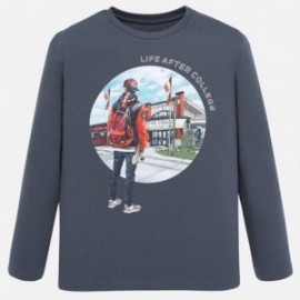 Koszulka z długim rękawem chłopięca Mayoral 7024-84 Szary