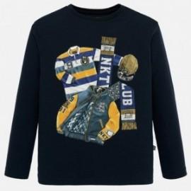 Koszulka z długim rękawem chłopięca Mayoral 7027-80 Granatowy