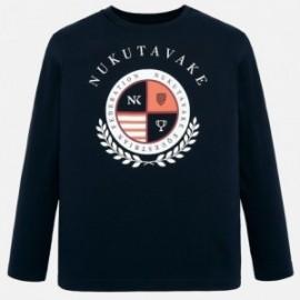 Koszulka z długim rękawem chłopięca Mayoral 7036-18 Granatowy