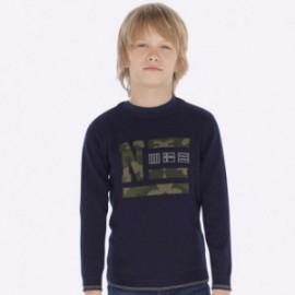 Sweter z haftem moro chłopięcy Mayoral 7313-29 Granatowy