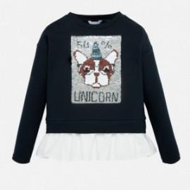 Sweter z cekinami dla dziewczyny Mayoral 7402-20 Granatowy