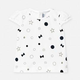 Koszulka z krótkim rękawem dziewczęca Mayoral 1057-58 Granatowy