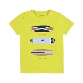 """Koszulka k/r """"surfing"""" chłopiec Mayoral 6067-42 Cytrynowy"""