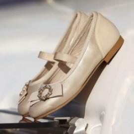 Baleriny eleganckie dla dziewczynki Mayoral 43147-80 Złoty