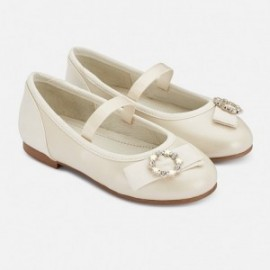 Baleriny eleganckie dla dziewczynki Mayoral 43147-81 perła