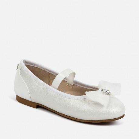 Balerinki eleganckie dla dziewczynek Mayoral 43149-85 białe