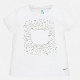 Koszulka bawełniana dla dziewczynki Mayoral 105-90 Biały