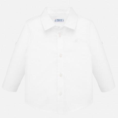 Koszula elegancka lniana dla chłopca Mayoral 117-80 Biały