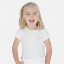 Koszulka sportowa dla dziewczynki Mayoral 174-88 Krem