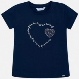 Koszulka sportowa dla dziewczynki Mayoral 174-96 granat