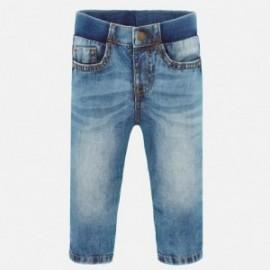 Spodnie jeans basic chłopięce Mayoral 500-81 niebieski