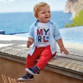 Spodnie eleganckie dla chłopca Mayoral 522-46 czerwony