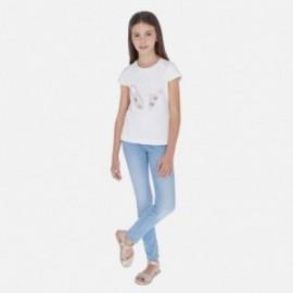 Spodnie jeans basic dla dziewczynki Mayoral 554-83 niebieskie