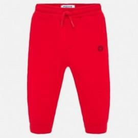 Długie spodnie sportowe dla chłopca Mayoral 711-92 czerwone