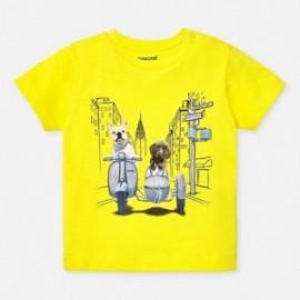 Koszulka sportowa bawełniana chłopięca Mayoral 1043-27 Żółty