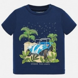 Koszulka bawełniana dla chłopców Mayoral 1049-42 granat