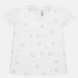 Koszulka z krótkim rękawem dziewczęca Mayoral 1057-55 róż
