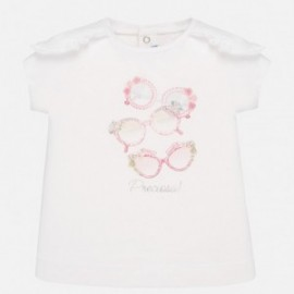Koszulka bawełniana dziewczynka Mayoral 1058-16 Różowy