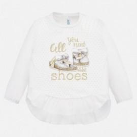 Koszulka bawełniana dziewczynka Mayoral 1069-18 beż