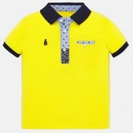Koszulka polo bawełniana dla chłopców Mayoral 1146-93 Żółty