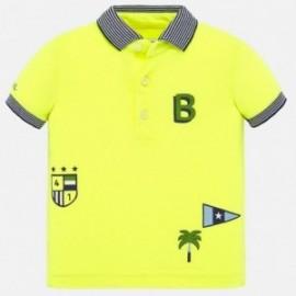 Koszulka polo bawełniana dla chłopców Mayoral 1147-31 Żółty neon