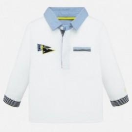 Koszulka polo z długim rękawem dla chłopców Mayoral 1154-78 Biały